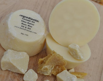 Organic Creamy Cocoa Butter Body Lotion Bar.
