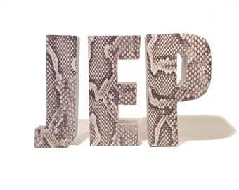 THREE Initials / Either Font / Solid Wood, Free-Standing Decor Letters