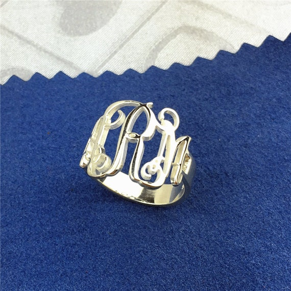 monogram ring custom monogram ring monogram by fujitahandmade