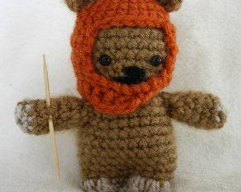 Wicket The Ewok Star Wars Amigurumi Crochet Doll