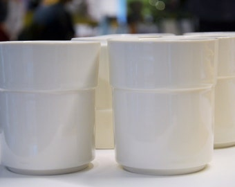 Limoges porcelain cups, created in Oslo.