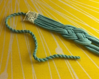 Upcycled Sailor Knot Headband - Blue