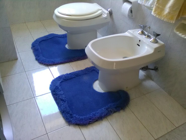 Vintage tris tappeti blu per il bagno tappetini per il bagno - Tris tappeti bagno ...