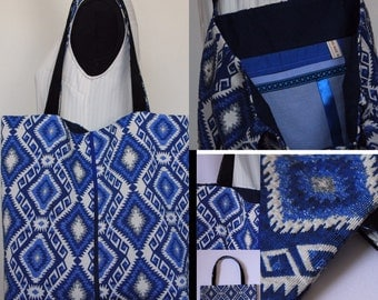 Blue canvas bag