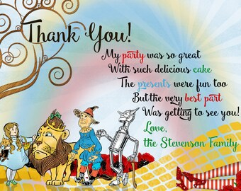 wizard of oz thank you cards  etsy, Birthday card