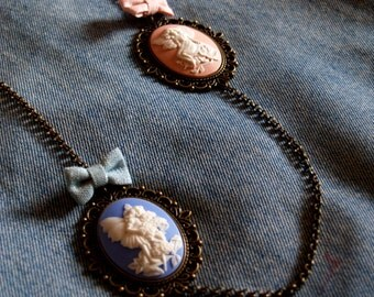 Necklace with angels and medals