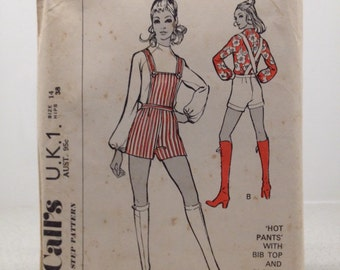 """McCall's step-by-step womens blouse vintage sewing pattern, size 14, hips 38""""     ## pants not included in pattern ##"""