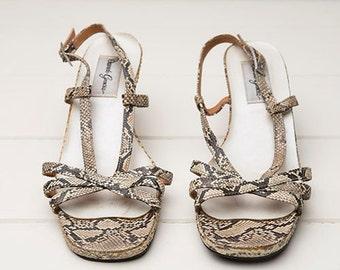 Faux Snakeskin Sandal