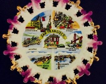 San Francisco Vintage Souvenir Plate