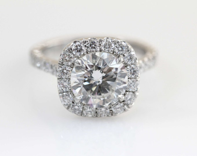 Featured listing image: Cushion Halo Engagement Ring