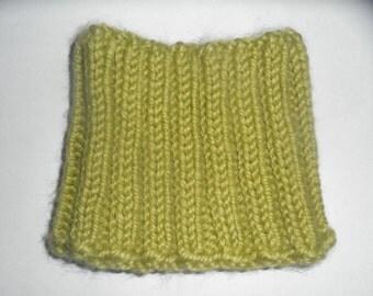 Chartreuse Kids Rib-Knit Cowl