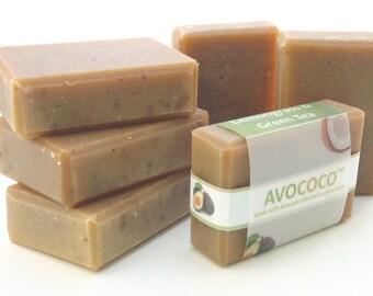 Green Tea Soap, Bar Soap, Lemongrass Soap, Natural Soap, Vegan Soap, Handmade Soap, Green Tea, Coconut Milk Soap, Essential Oil Soap