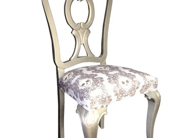 Chair collection SKULL. Finish: antique silver wax.