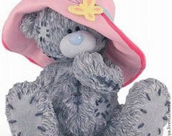 Teddy with Hat 3d Molds Teddy Bears in Hat Silicon Mold for Soap and Chocolate 3d Teddy Girl Mould Soap Supply mold gift for soapmaking