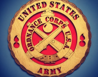 Wooden aviation ordnance wings patch