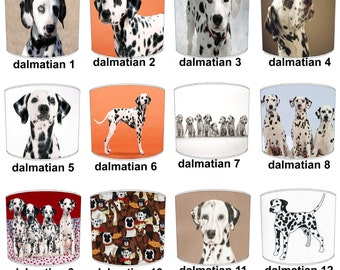 Dalmatian Puppy Dog Lamp shades, To Fit Either a Table Lamp base or a Ceiling Light Fitting.