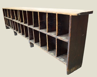 Vintage Oak Shoe Rack
