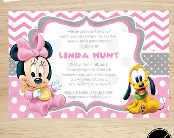 minnie mouse baby shower invite minnie mouse baby shower invitation minnie mouse shower printable