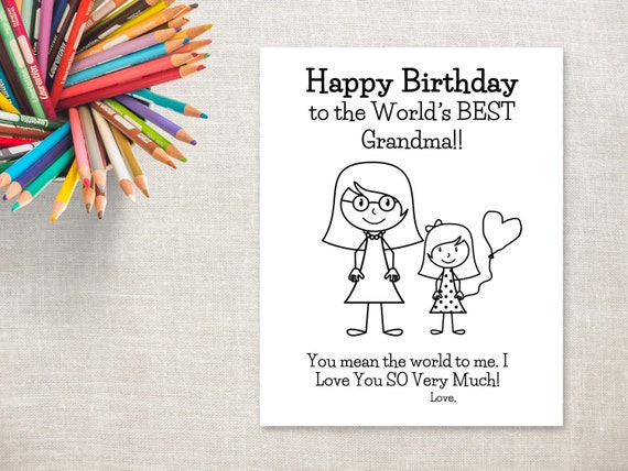 Punchy image with printable birthday cards for grandma
