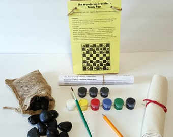 Game Board (Checkers, Alquerques) Craft Kit