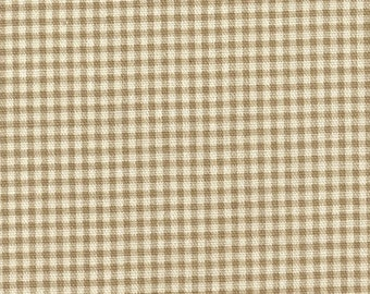 "84"" Shower Curtain, Linen Beige Gingham Check, Unlined"