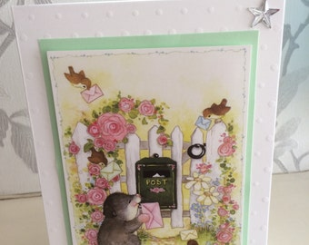 Cute country animals card