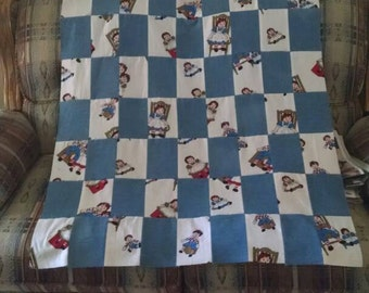 Raggedy Ann and Andy blanket