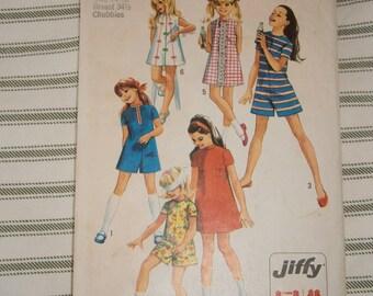 Simplicity Teen Girls  8721 Pattern sz 14 1/2 1970