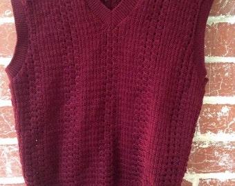 vintage short sleeve knit vest