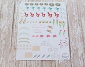 Spring Easter Flowers Planner Agenda Stickers
