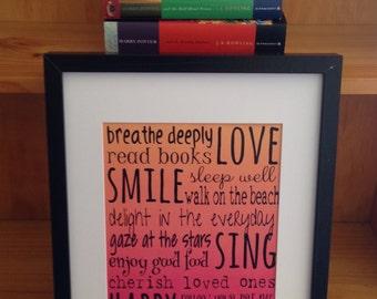 Love Smile Sing Happy Print