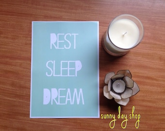 Rest Sleep Dream Print