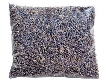 Organic Bulk Dried Lavender .Ultra Blue, Rich Fragrance.Fresh Scent for years . 1/5 pound Bulk .