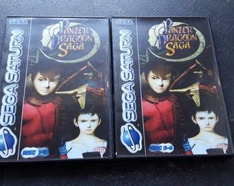 Sega Saturn Panzer Dragoon Saga - Custom full reproduction artwork, case, labels with free back up ROM discs