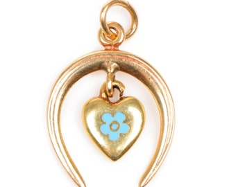 Horseshoe & Heart Pendant