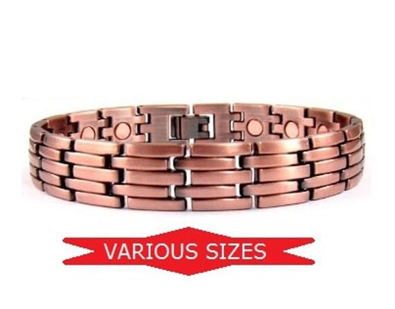 Mens Copper Bracelet Magnetic Link Copper Bracelet for Men
