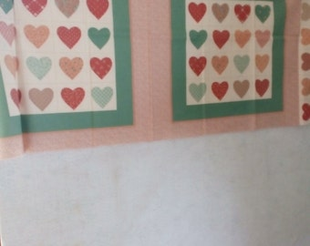 Vintage Panel #100 with hearts and Free Shipping