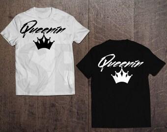 Women's 'Queenin' T-Shirt (with Crown)