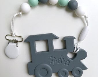 Train Teether / Baby Teething Toys / Food Grade Silicone