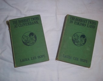 2 Vintage Bobbsey Twins books by Laura Lee Hope