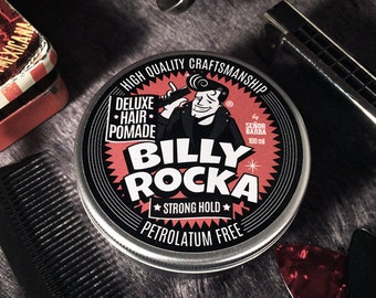 Hair Pomade Billy Rocka, natural pomade, strong hold, lanolin pomade 100ml