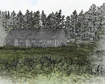 Sketched Barn