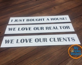 Realtor Signs, Photo Props, Just Listed, Realtors, Realtor Gifts, Realtor Closing Gifts, Realtor Closing