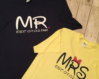 Mr & Mrs T-Shirts