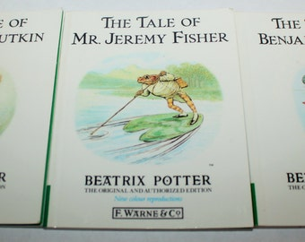 Three Beatrix Potter small Book Collection - Tale of Benjamin Bunny - Tale of Squirriel Nutkin - Tale of Jeremy Fisher