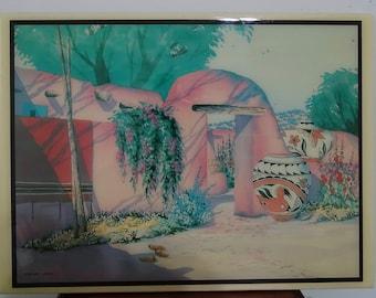 Doreman Burns watercolor composition