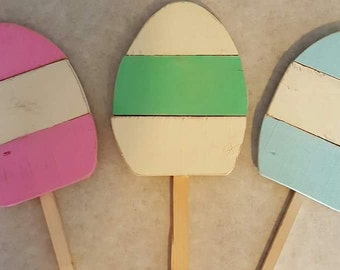 easter egg yard stakes