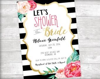 Let's Shower the Bride Invitation Printable
