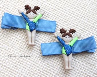 Girls Hair Barrettes Little Gymnast