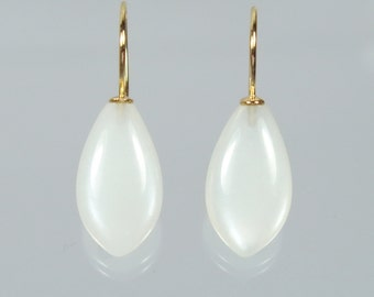 750 gold earrings earrings Moonstone p unique forged master work